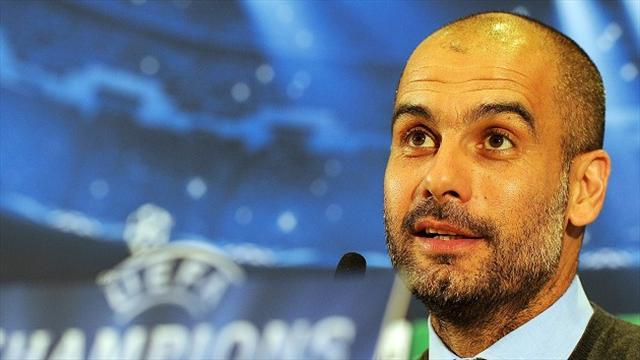 Champions League - Guardiola expects United to park the bus, bets a glass of beer over Rooney