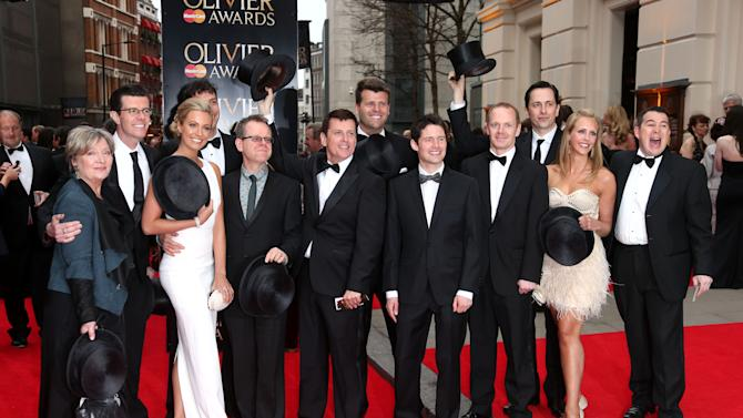 "Cast and Crew of ""Top Hat"" seen at the Olivier Awards 2013 at the Royal opera House in London on Sunday, April 28th, 2013. (Photo by Joel Ryan/Invision/AP)"