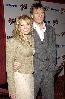 Natasha Richardson and Liam Neeson at the New York premiere of Miramax's Gangs of New York