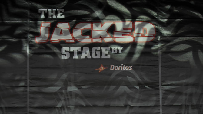 Hip hop duo The Cool Kids perform on The JACKED Stage by Doritos in Austin, Texas, Saturday, March 17, 2012. The 56-foot-tall vending machine JACKED Stage was unveiled at SXSW to debut amped up new Doritos JACKED chips. (Darren Abate/AP Images for Doritos)