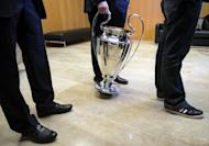 A picture taken on December 20, 2012 at UEFA headquarters in Nyon shows the Champions League trophy. Champions League ties were among some 380 games said to have been targeted by match-fixing cartels