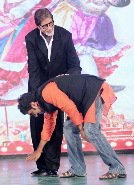Big B at the music launch of 'Ata Pata Lapata'