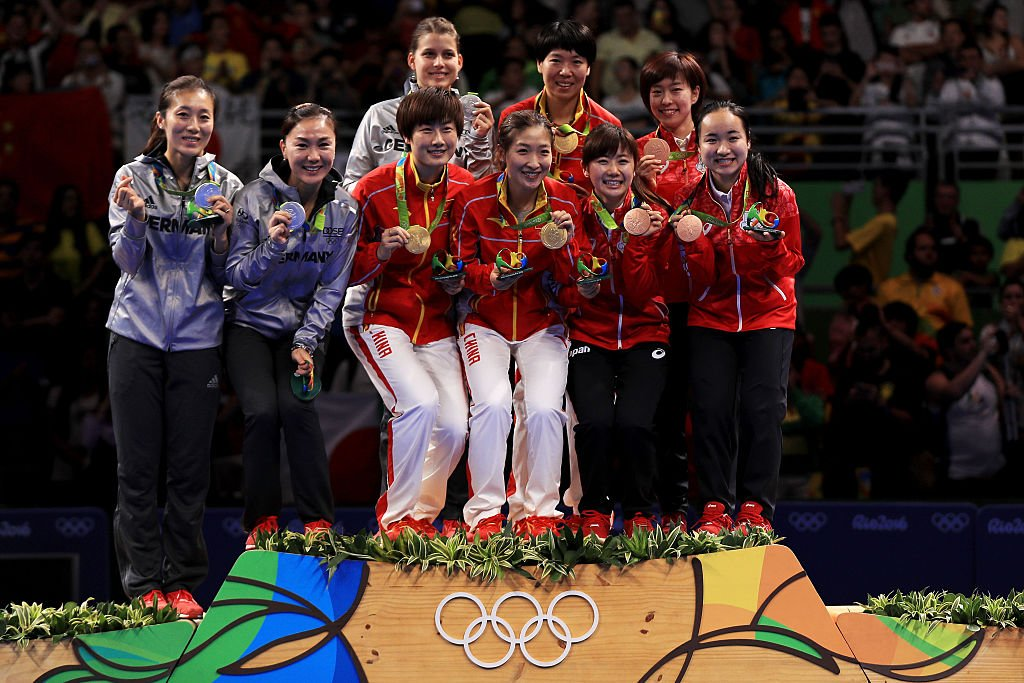 Women's table tennis players won more than medals in Rio. (Mike Ehrmann/Getty Images)
