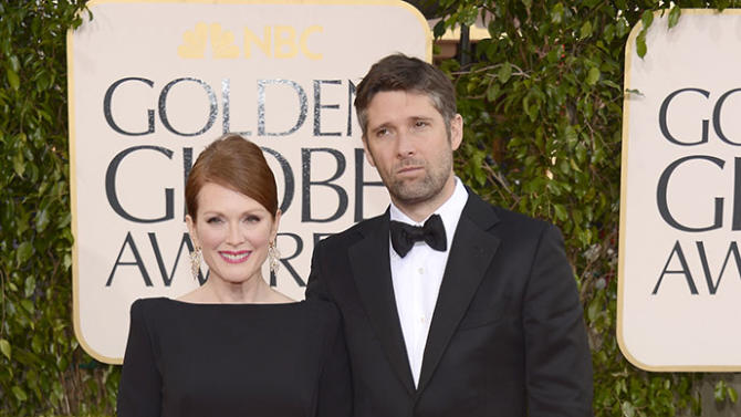 Julianne Moore arrives at the 70th Annual Golden Globe Awards