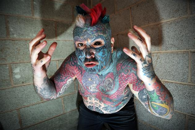 Born Matthew Whelan has legally changed his name to Body Art in accordance with his body modification (Caters)