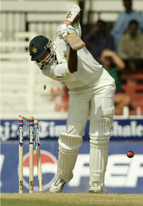 Danish Kaneria is bowled