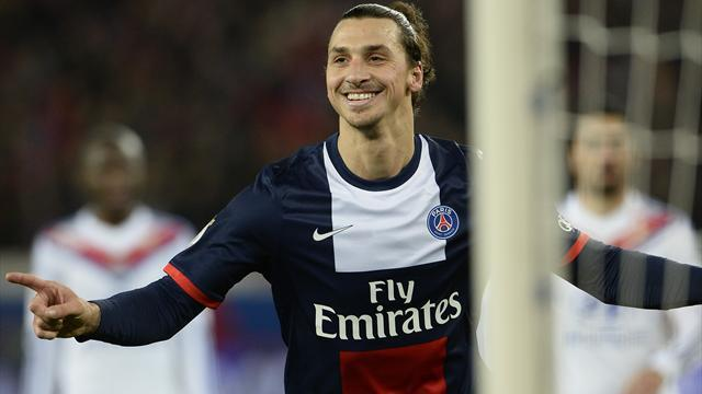 European Football - Ibrahimovic hat-trick fires PSG rout