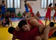 Olympics: Wrestlers grapple with 2020 lockout