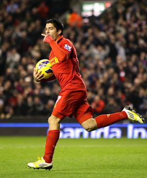 Luis Suarez scored Liverpool's equaliser midway through the second half