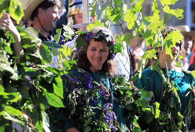 Flora Day Celebrations Take Place In Helston