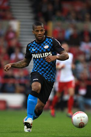 Jeremain Lens scored the opener in PSV's victory over Napoli