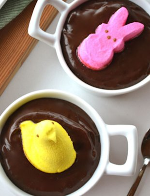 Chocolate Peep Pudding
