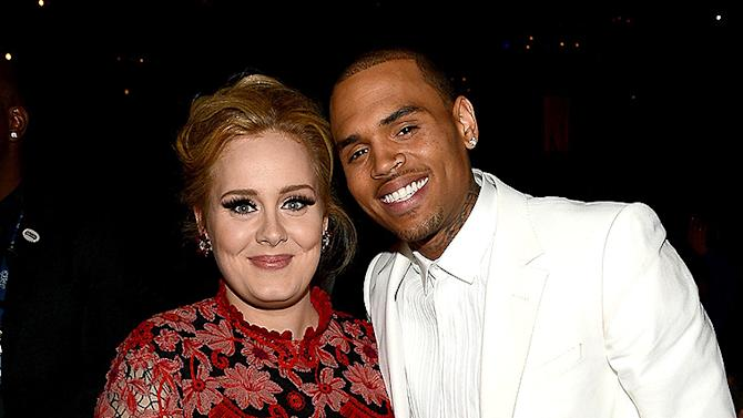 Adele, Chris Brown