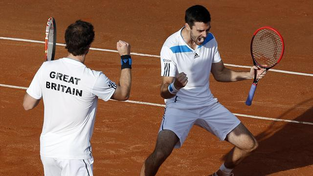 Davis Cup - Murray and Fleming triumph in doubles, GB lead 2-1