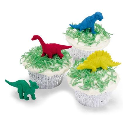 Dinosaurs in the Grass Cupcakes