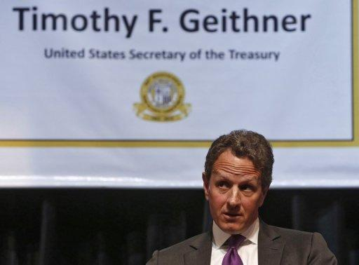 "US Treasury Secretary Timothy Geithner has praised recent measures to combat the eurozone's debt problems, saying the bloc was on ""a more promising path"" to resolving the crisis."
