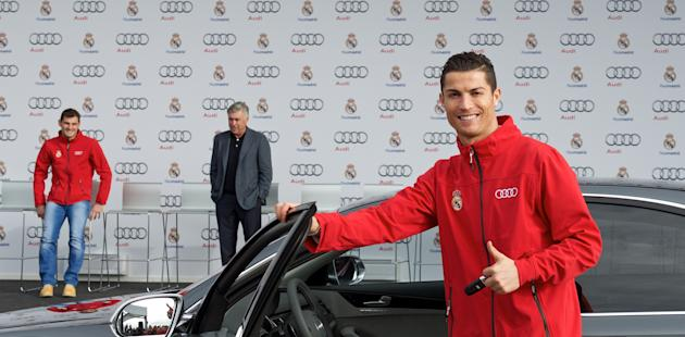 Real Madrid stars treated to new Audis - guess which one Cristiano Ronaldo chose