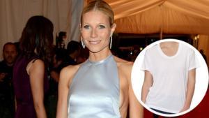 Gwyneth Designs Plain White Tee -- and It's $90