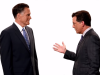 Stephen Colbert Recruits a Hungry Mitt Romney for New 'Late Show' Teasers (Video)