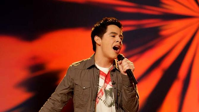 David Archuleta performs as one of the top 24 contestants on the 7th season of American Idol.