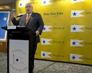 """Australian tycoon Clive Palmer, who intends to build the """"Titanic II"""", said he had ordered more than 100 life-size robots"""