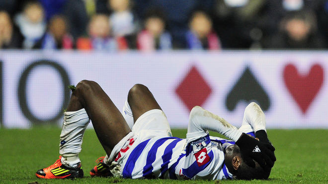 Queen's Park Rangers' English Midfielder Shaun Wright-Phillips Reacts   AFP/Getty Images