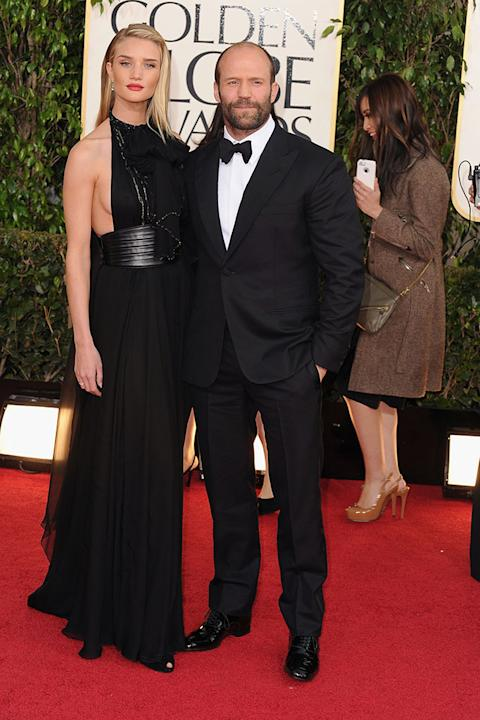 70th Annual Golden Globe Awards - Arrivals: Rosie Huntington-Whiteley and Jason Statham