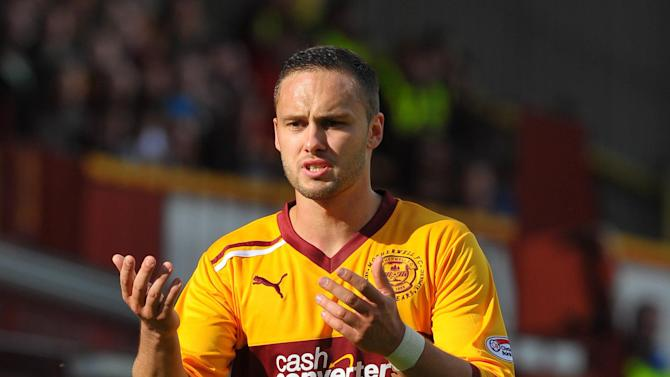 Tom Hateley, pictured, is one of the players who will not be available for Motherwell's Europa League play-off second leg
