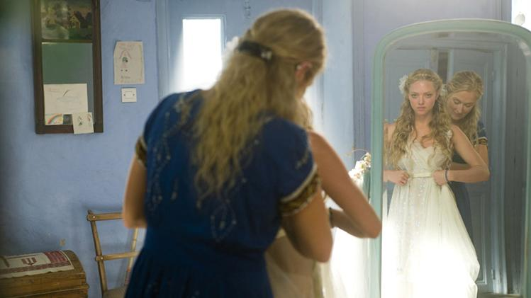 Amanda Seyfried Meryl Streep Mamma Mia Production Universal 2008