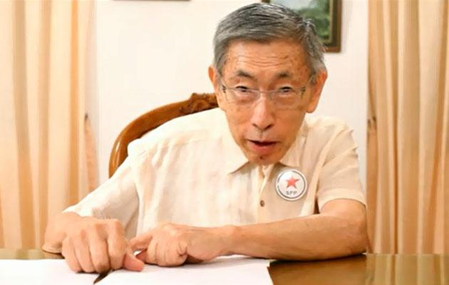 Singapore People's Party secretary-general Chiam See Tong gives his views on the population white paper. (Screengrab of YouTube video)