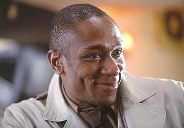 Mos Def as Ford Prefect in Touchstone Pictures' The Hitchhiker's Guide to the Galaxy