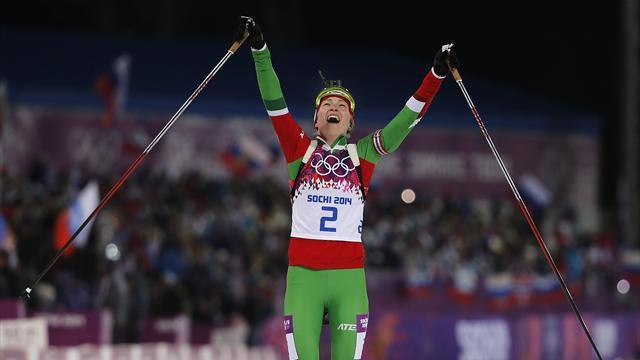 Biathlon - Ukraine edge Russia for relay gold