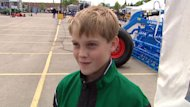 Justin Schwanke, 11, wants to follow in his father's footsteps and become a farmer.
