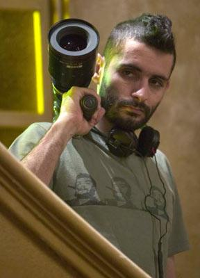 Director Jaume Collet-Serra on the set of Warner Bros. Pictures' House of Wax