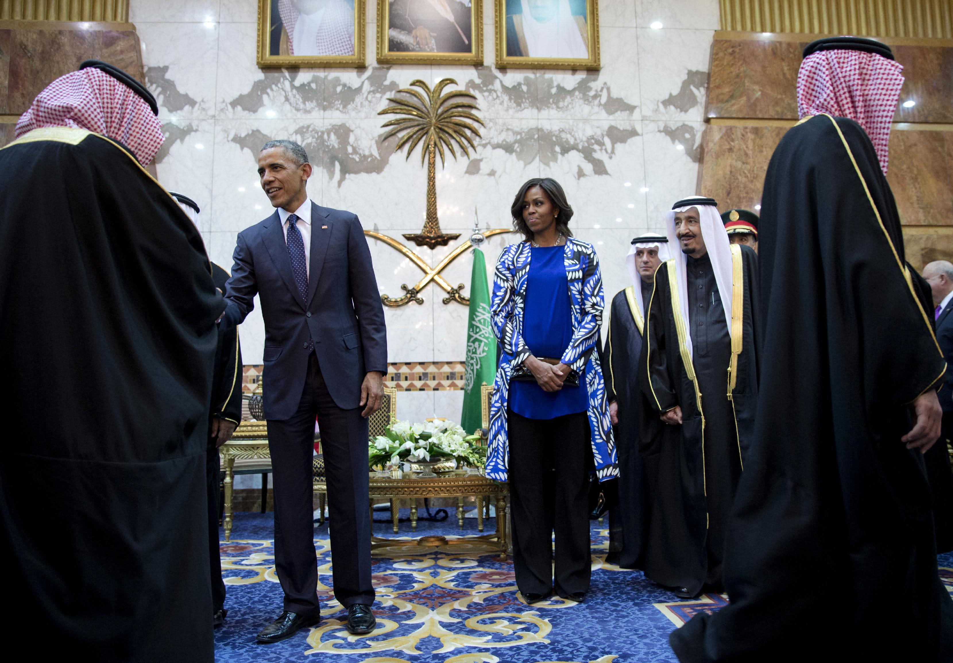 Michelle Obama navigates limits on women in Saudi Arabia