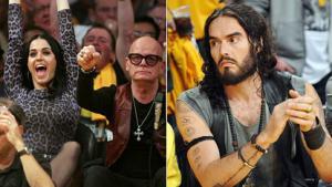 Awkward! Russell & Katy at Same Lakers Game