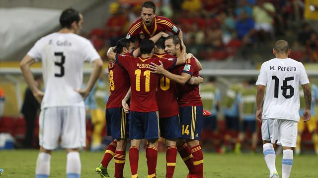 Confederations Cup - Suarez free-kick fails to deny Spain opening victory
