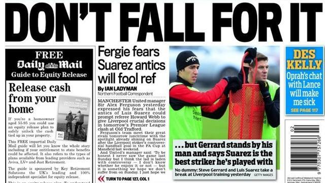 Premier League - Paper Round: Suarez 'laden with controversy'