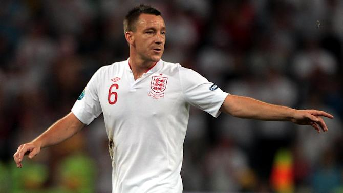 John Terry limped out of England's 5-0 victory over Moldova in the closing stages