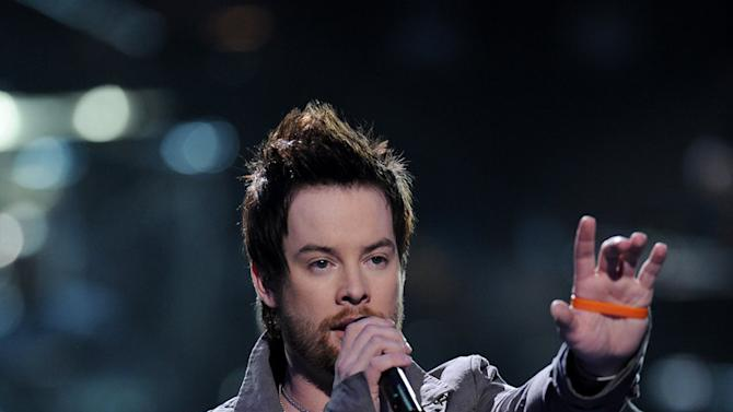 David Cook performs on American Idol.