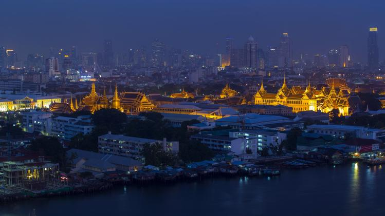The Grand Palace is pictured in Bangkok