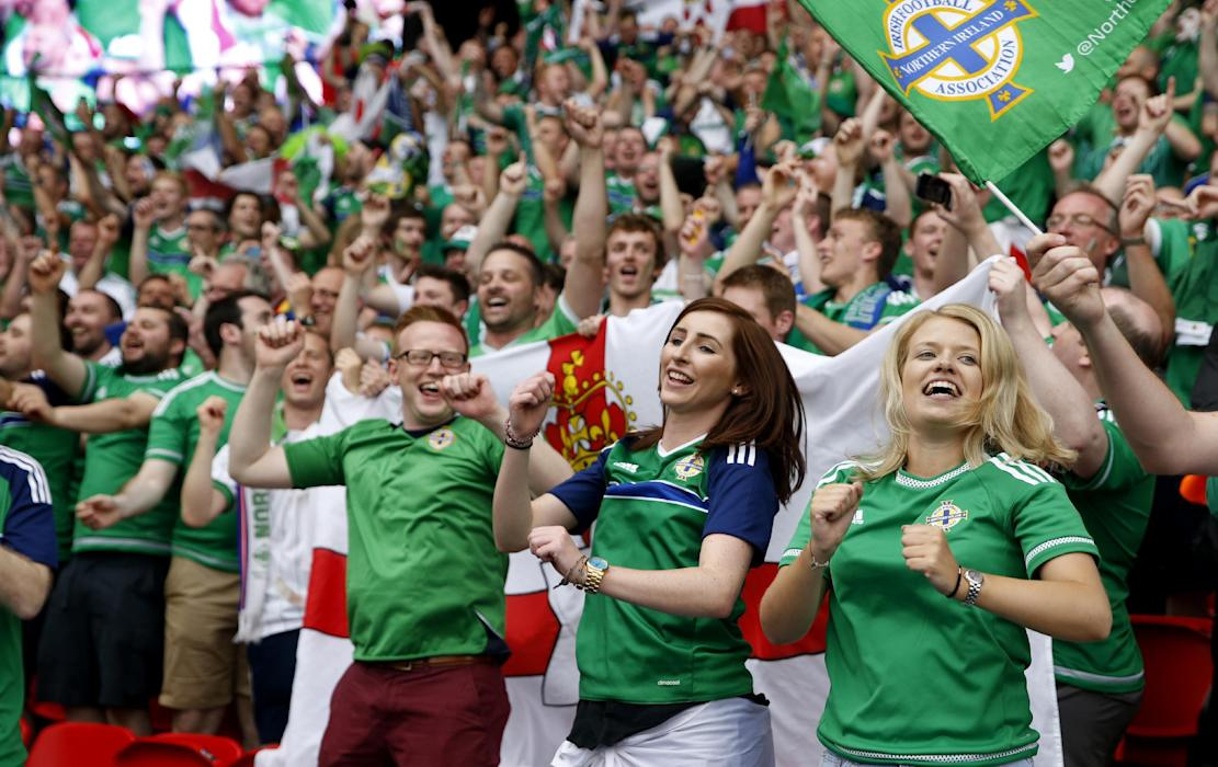 Northern Ireland fans after the game