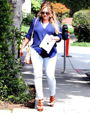 FIRST PIC: Hilary Duff Debuts Post-Baby Bod in Skin-Tight Leopard Jeans