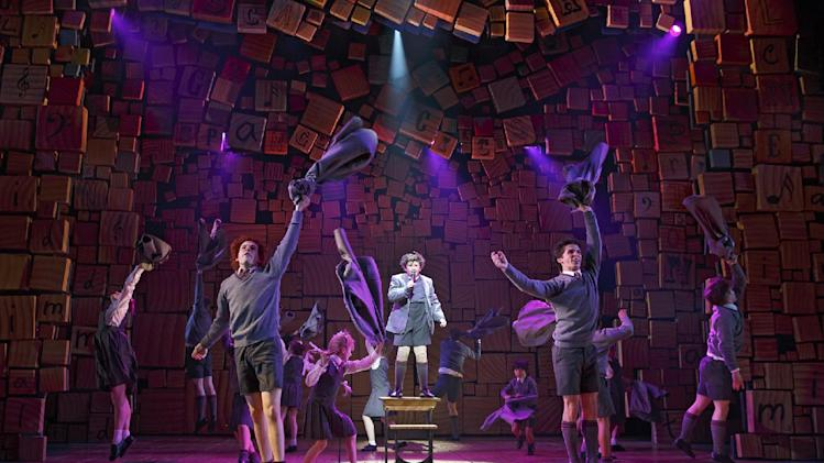 "This theater publicity image released by Boneau/Bryan-Brown shows the cast of ""Matilda The Musical,"" during a performance in New York. The New York Drama Critics' Circle has voted ""Vanya and Sonia and Masha and Spike"" as best play and ""Matilda"" as best musical. (AP Photo/Boneau/Bryan-Brown, Joan Marcus)"