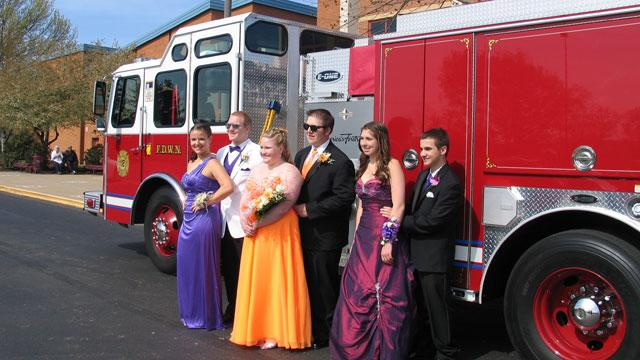 Fire Chief Under Fire for Using Fire Engine as a Prom Limousine