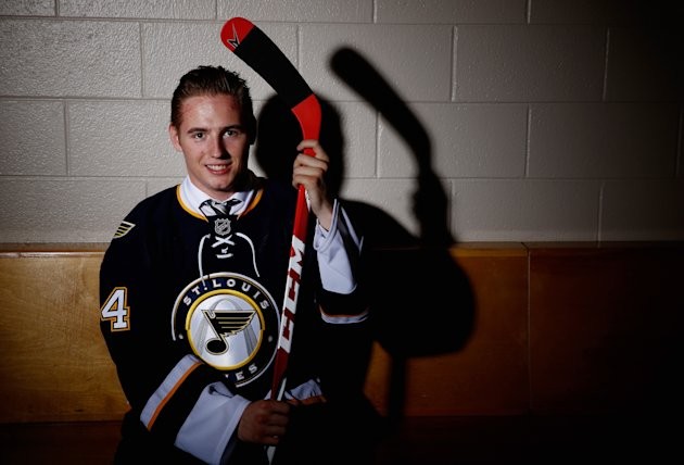 PHILADELPHIA, PA - JUNE 28: Ivan Barbashev of the St. Louis Blues poses for a portrait during the 2014 NHL Draft at the Wells Fargo Center on June 28, 2014 in Philadelphia, Pennsylvania. (Photo by Jeff Zelevansky/Getty Images)