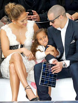 PIC: Aww! Jennifer Lopez's Daughter Emme Anthony, 4, Sits With Mom and Casper Smart at Paris Fashion Week Show