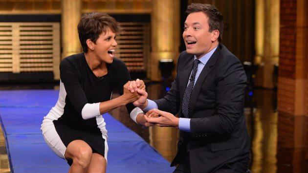 Halle Berry visits 'The Tonight Show' on July 8, 2014 -- NBC