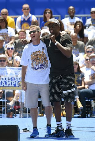 The parades and rallies will come to an end this week for Draymond Green when free agency begins. (Getty Images)