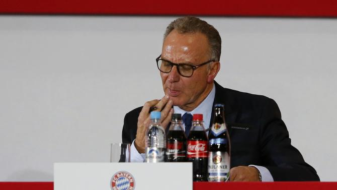 Bayern Munich's CEO Rummenigge attends the annual general meeting of the German Bundesliga first division soccer club in Munich